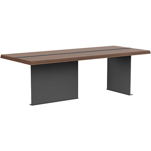 Soreno 2210mm Rectangular Boardroom &Meeting Table American Walnut with Metal Base