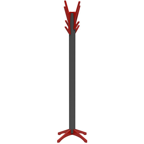 SOVE Coat Stand with Anthracite Frame &Red Hooks