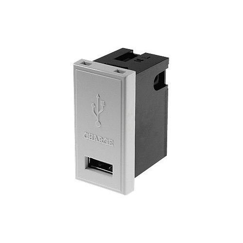 1 amp White Single USB Charger