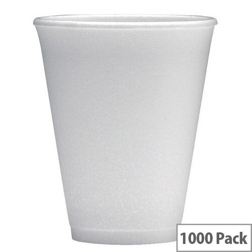 Foam Insulated Polystyrene Disposable Cups 7oz/200ml White [Pack of 1000] WX00031