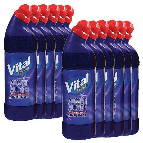Vital Fresh Power Original Bleach Cleaners 750ml Pack of 12 WX00208