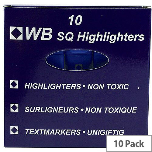 HiGlo Highlighter Pens Blue Pack 10 WX01114