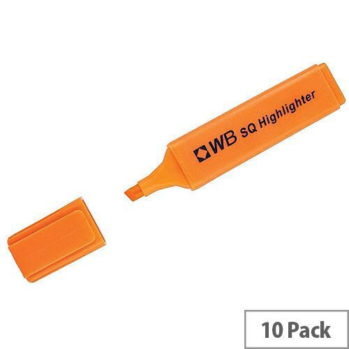 HiGlo Highlighter Pens Orange Pack 10 WX01115