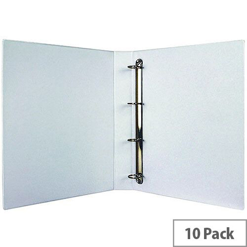Presentation 4D-Ring Binder 25mm White Pack of 10 WX01325