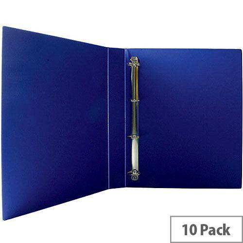 Presentation 4D-Ring Binder 25mm Blue Pack of 10 WX01327