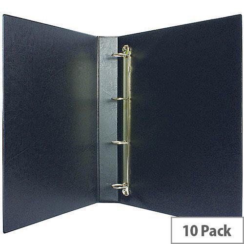 Presentation 4D-Ring Binder 25mm Black Pack of 10 WX01328