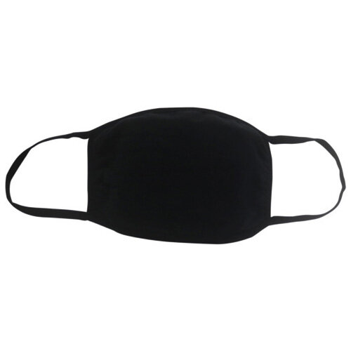 Reusable Cloth Masks 5x7in 4 Layer Cotton Black Pack of 5 SY-200425B