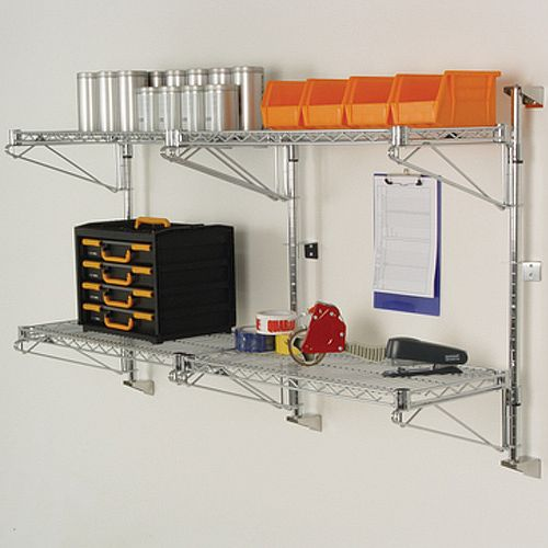 Wall Mounted Fixed &Adjustable Wire Shelving