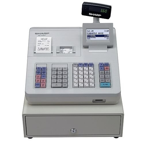 Sharp XE-A307 Cash Register White