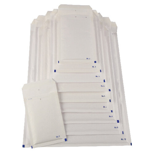Bubble Lined Envelope Size 4 180x265mm White Pack of 100 XKF71449