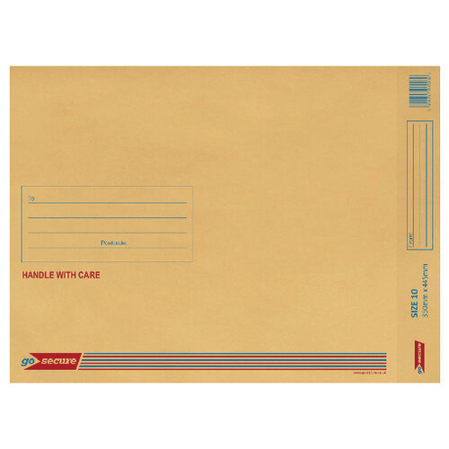 Bubble Lined Envelope Size 10 350x470mm Gold Pack of 50 XML100062