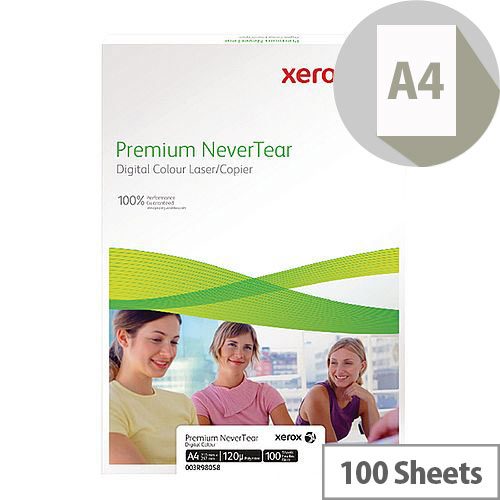 Xerox Nevertear A4 95 Micron (125gsm) White Premium Copier Paper 100 Sheets