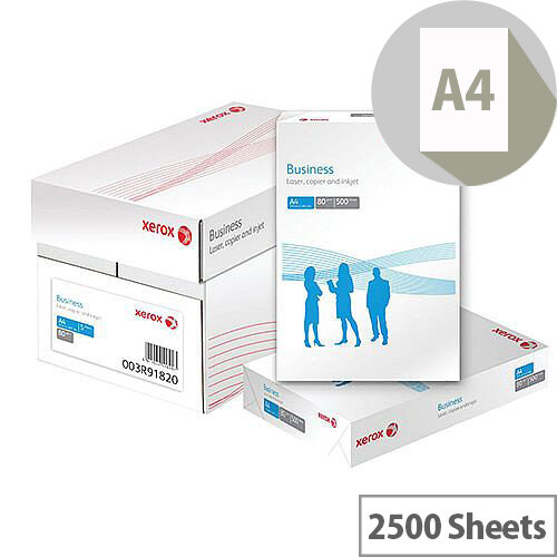 Xerox A4 Business 80gsm White Printer/Copier Paper Box of 2500 Sheets