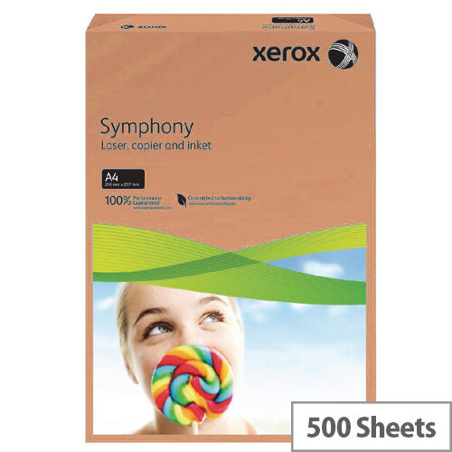 Xerox Symphony Orange A4 Paper 80gsm Pack of 500