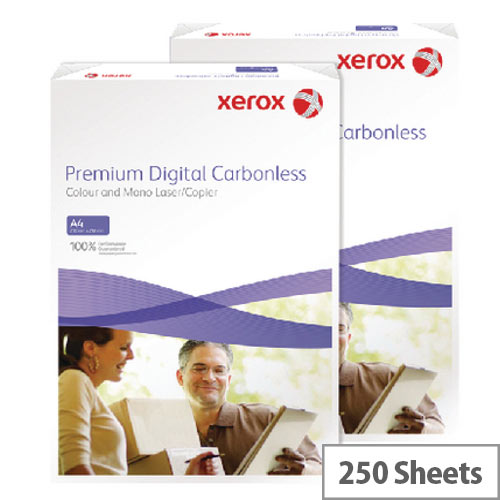 2 Part Carbonless NCR Paper Straight White &Yellow Pack 250 Idem
