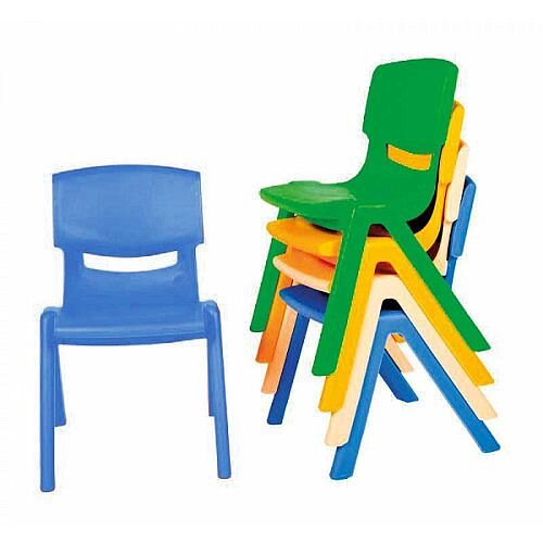 Kite Easy Stack Plastic Chair 30cm Blue - Ideal For Play-Schools, Pre-Schools, Junior Infants, Senior Infants, Home Use &More!
