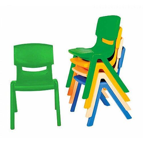 Kite Easy Stack Plastic Chair 30cm Green