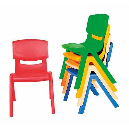 Kite Easy Stack Plastic Chair 30cm Red