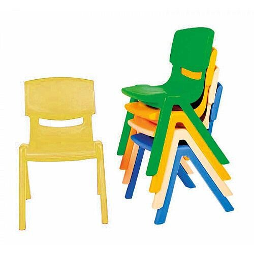 Kite Easy Stack Plastic Chair 30cm Yellow