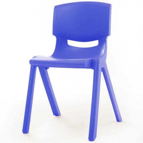 Kite Easy Stack Plastic Classroom Chair 40cm Blue - Lightweight, Stackable &Easy To Clean, Ideal For Play-Schools, Pre-Schools, Junior Infants, Senior Infants, Home Use &More!