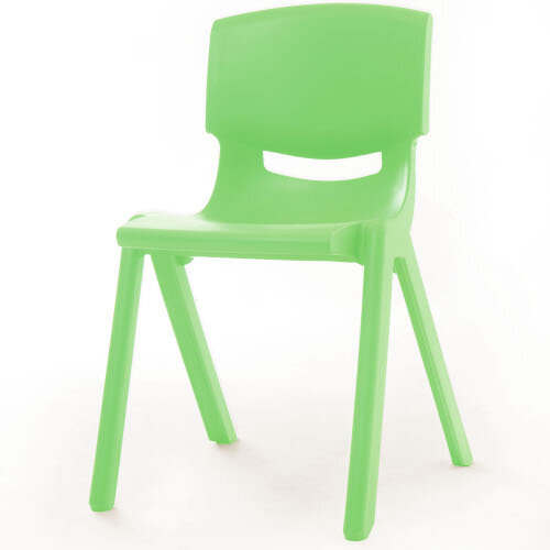 Kite Easy Stack Plastic Classroom Chair 40cm Green - Lightweight, Stackable &Easy To Clean, Ideal For Play-Schools, Pre-Schools, Junior Infants, Senior Infants, Home Use &More!