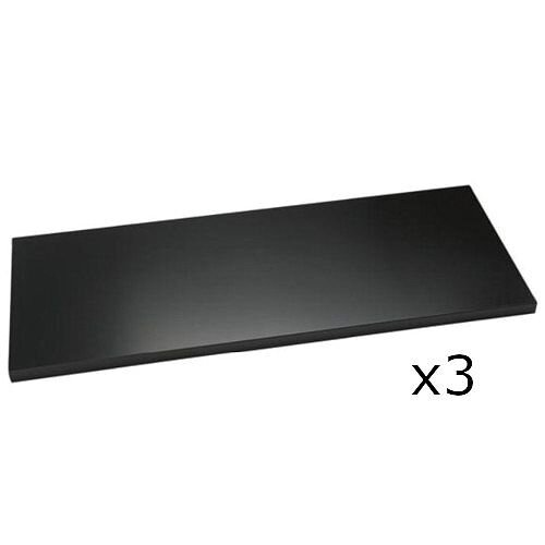 Bisley Standard Shelf For 1000mm Wide Cupboards &Tambour Units Black Pack of 3