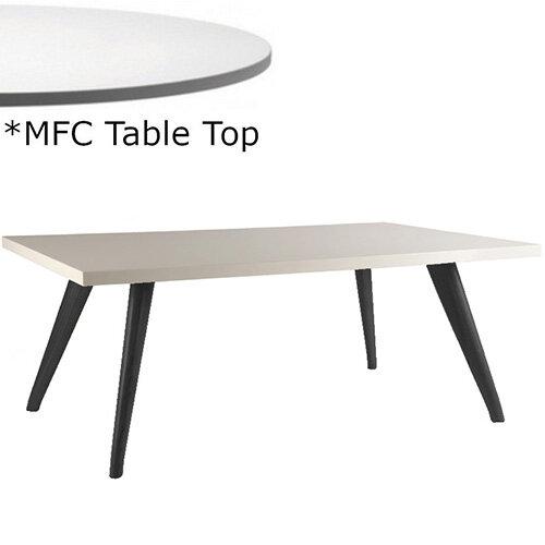 Frovi YAK  Rectangular Coffee Table With Black Oak Frame &MFC Top W1000xD600xH390mm - Minimalist Design MFC Melamine Surface