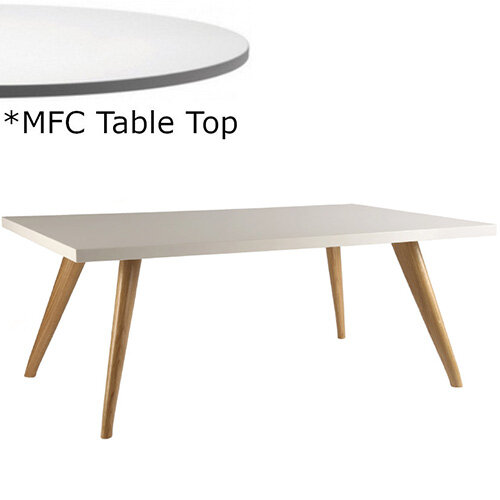 Frovi YAK  Rectangular Coffee Table With Natural Oak Frame &MFC Top W1000xD600xH390mm - Minimalist Design MFC Melamine Surface