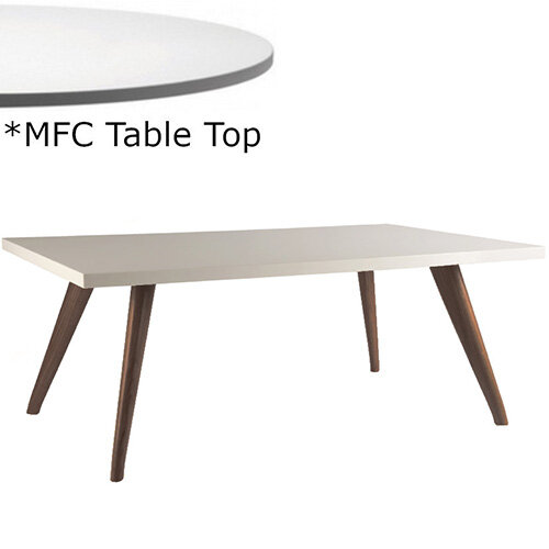 Frovi YAK  Rectangular Coffee Table With Stained Walnut Frame &MFC Top W1000xD600xH390mm - Minimalist Design MFC Melamine Surface