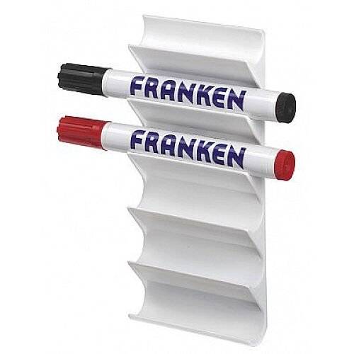 Franken Magnetic Marker Holder for 6 Board Markers White Z1986