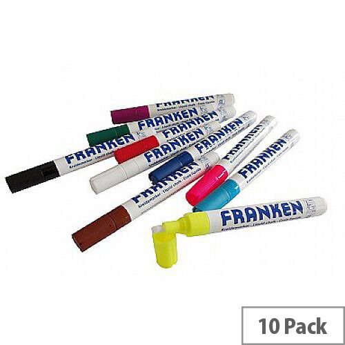 Franken Assorted Colours ChalkMarkers Pack of 10 ZKM96