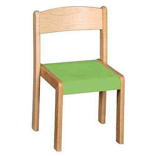 Wooden Chairs 30Cm Green