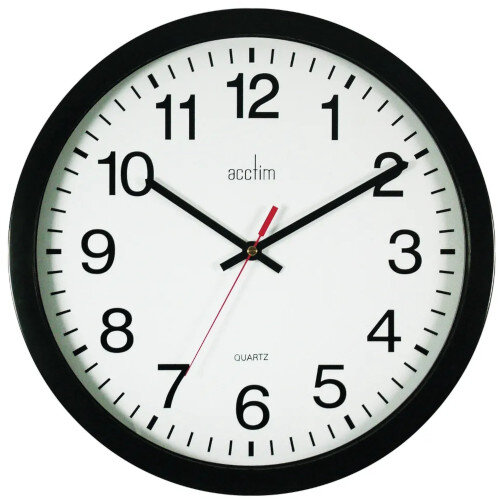 Acctim Controller Wallclock 368Mm Black