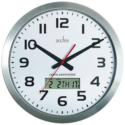 Acctim Meridian Rc Wl Clock Alum 74447