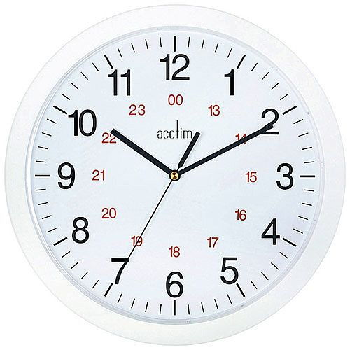 Acctim Metro 12 inch Wall Clock White 21162