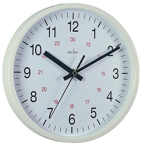 Acctim Metro 14 inch Wall Clock White 21202