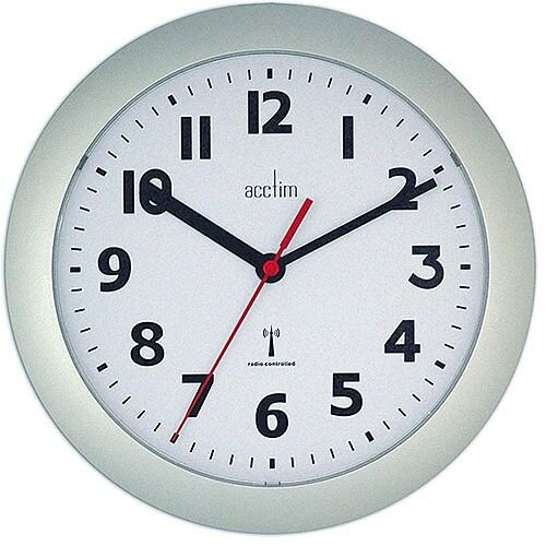 Acctim Parona RC Wall Clock Silver 74317