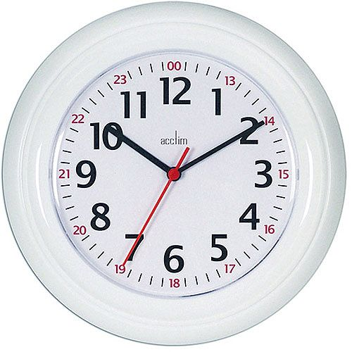 Acctim Wexham 24 Hour Wall Clock White 21862