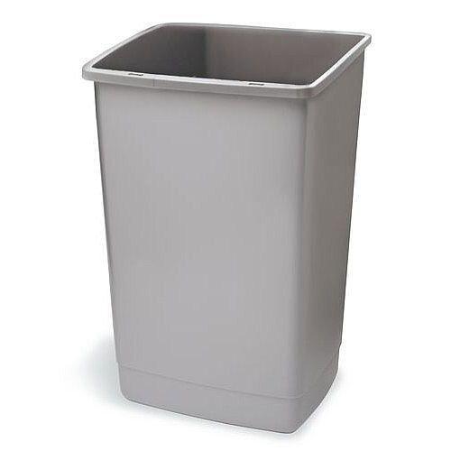 Addis Plastic Flip Top Waste Bin Base 60 Litres Grey Metallic
