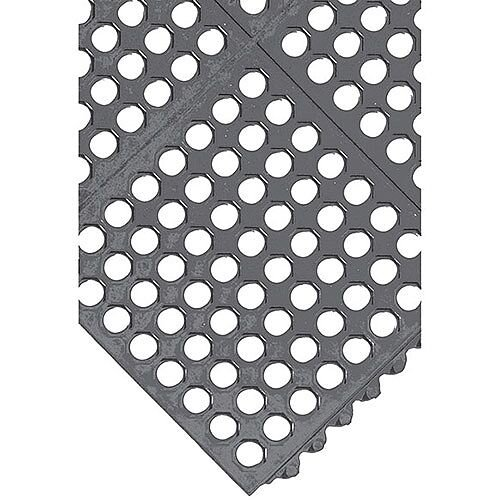 All-Purpose Anti-Fatigue Modular Mat  Grid Surface Black 312412