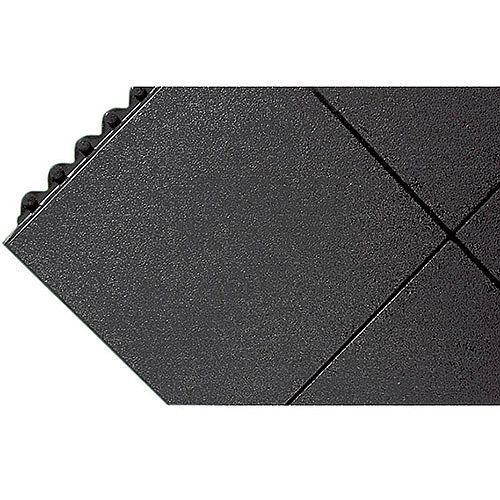 All-Purpose Anti-Fatigue Modular Mat Solid Surface Black. Can Withstand Temperatures Of Up To 160 Degrees Celsius &Molten Glass. Ideal For Commercial Or Industrial Use.