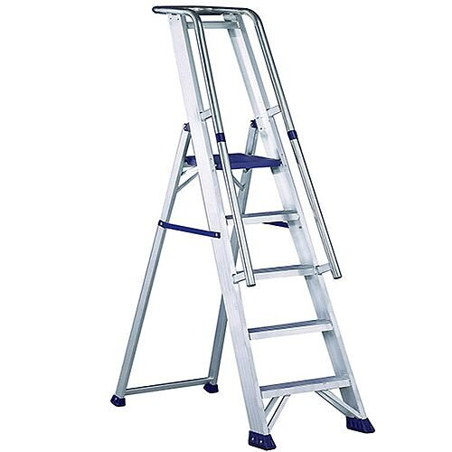 Astonishing Aluminium 12 Steps Ladder Platform Height 2 77M Closed Caraccident5 Cool Chair Designs And Ideas Caraccident5Info