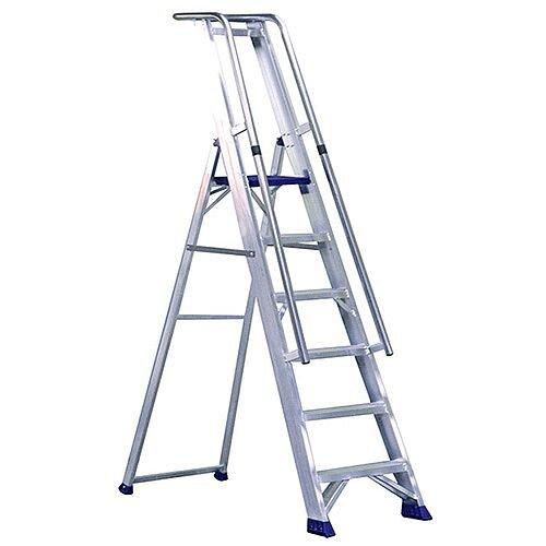 Aluminium 5 Steps Ladder Platform Height 1.16M Closed Height 2.05M Capacity 150Kg 377855