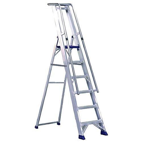 Aluminium 8 Steps Ladder Platform Height 1.85M Closed Height 2.8M Capacity 150Kg 377858