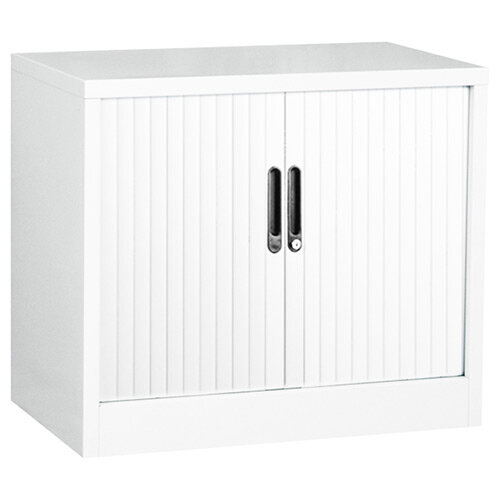 Side Opening Tambour Unit in White H695mm x W800mm