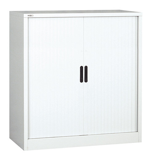 Side Opening Tambour Unit in White Height 1016mm x Width 1000mm