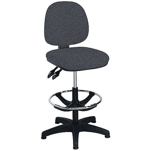 Arista Adjustable Draughtsman Chair Charcoal KF815148