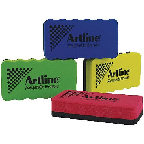 Artline Magnetic Whiteboard Eraser Pack of 4 Assorted ERTMM4A