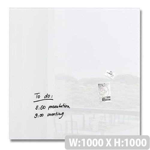 Sigel Artverum Magnetic Tempered Glass Whiteboard White 1000x1000mm Gl201