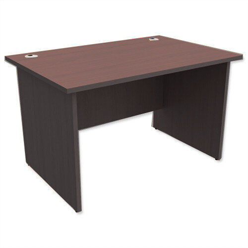 Panel End Desk Rectangular W1200xD800xH725mm Dark Walnut Ashford